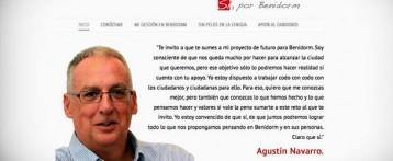 El candidato Agustín Navarro en la red