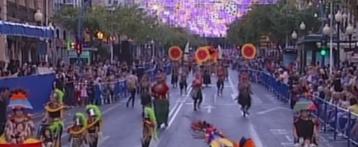 Desfilada del Ninot de les Fogueres d'Alacant 2017