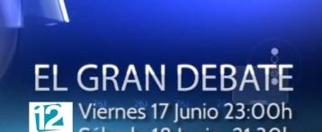 12TV emite El Gran Debate a 4 con candidatos al Congreso por Alicante