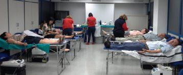 Los empleados de Aguas de Alicante e Hidraqua donan sangre a través del Centro de Trasfusiones de la Generalitat