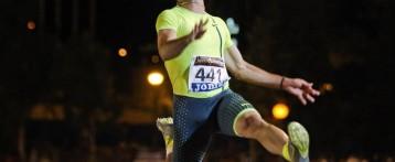 Eusebio Cáceres, campeón de España en salto de longitud