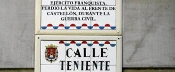 El Ayuntamiento de Alicante gastará 20.000€ en cambiar el nombre de calles franquistas
