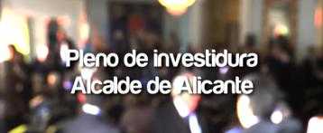 Pleno de Investidura del Alcalde de Alicante, Miguel Valor