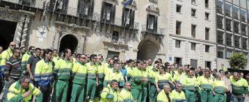 La falta de acuerdo con el personal de limpieza de Alicante tensa a la plantilla y les conduce a una huelga parcial que comienza este sábado