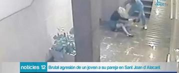 La Guardia Civil detiene al joven que dio una brutal paliza a su pareja en Alicante. Las cámaras de seguridad grabaron la agresión