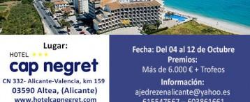 Campeonato de España de Ajedrez para jugadores veteranos en el Hotel Cap Negret de Altea