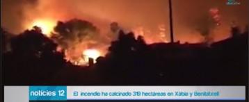 La Guardia Civil busca al pirómano que ha provocado el gran incendio en Xàbia y Benitatxell