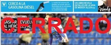Lunes negro para la prensa alicantina: La última portada del diario La Verdad en Alicante