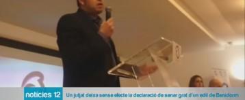 El Juzgado deja sin efecto la declaración de non grato del edil de Benidorm