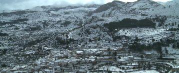Imágenes desde el cielo de la nevada en la provincia de Alicante