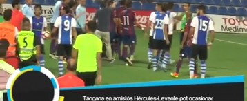 Una tángana en el amistoso Hércules-Levante podría ocasionar sanciones en Liga