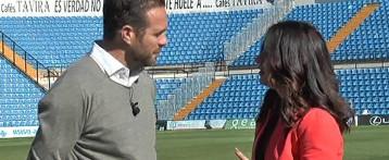 El entrenador del Hércules CF, Luis García Tevenet, le confiesa a Isabel Montaño sus inquietudes en el equipo