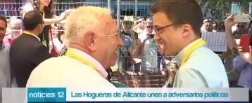 Las Hogueras de Alicante unen a adversarios políticos